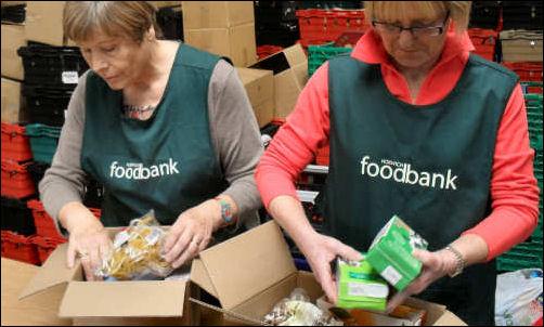 Universal credit behind a 13% increase of people depending on food banks
