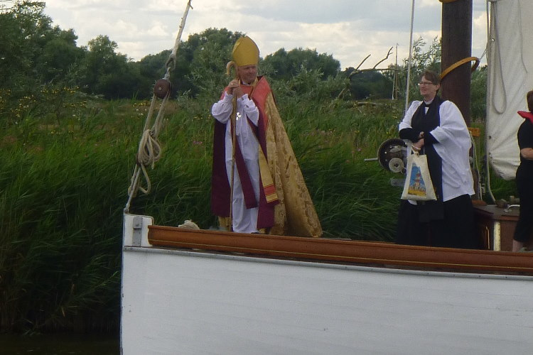 Bishop of Norwich on wherry 20