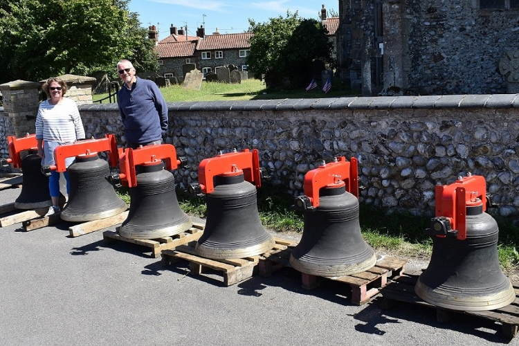 Upper Sheringham bells outside