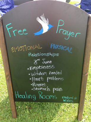 Healing rooms sign 307CF