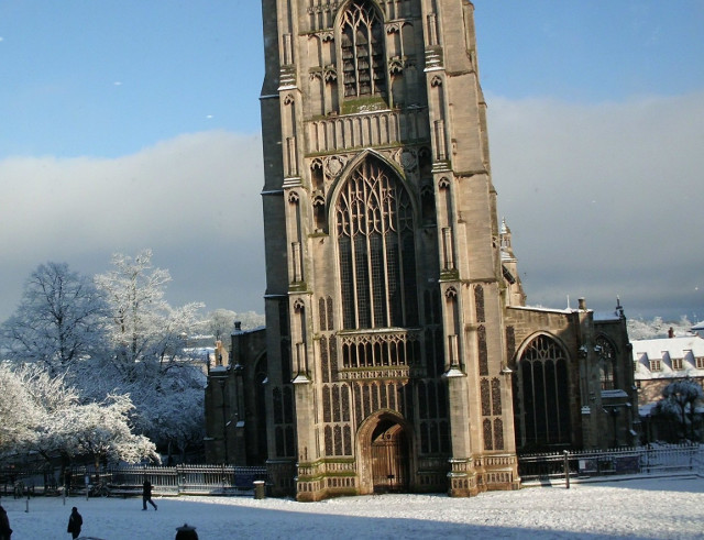 St Peter Mancroft snow