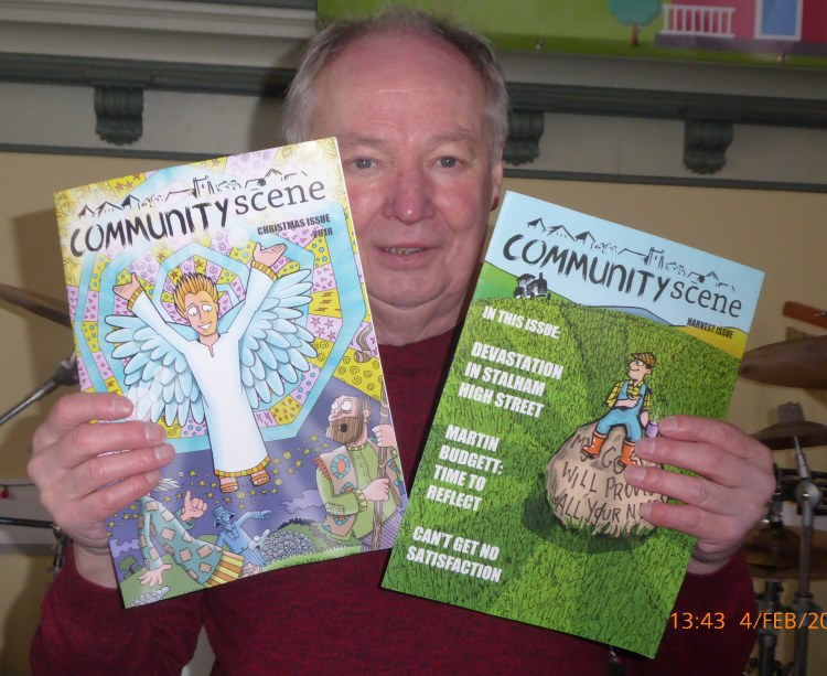 Stalham community mag with Dav